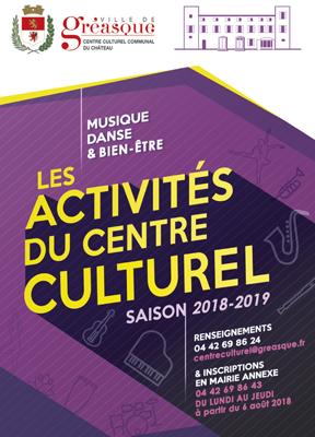 Couverture Activités du Centre Culturel