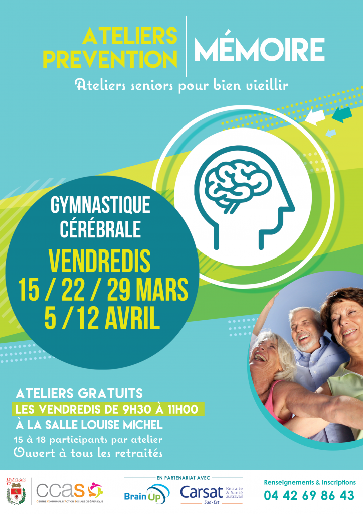 Affiche Atelier Prevention Memoire 2019